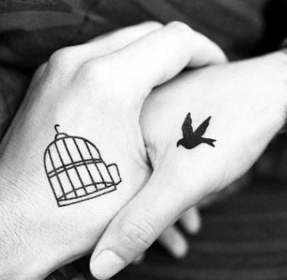 Trendy Small Bird Cage Tattoo Simple Ideas Matching Tattoos Couples Tattoo Designs Matching Couple Tattoos