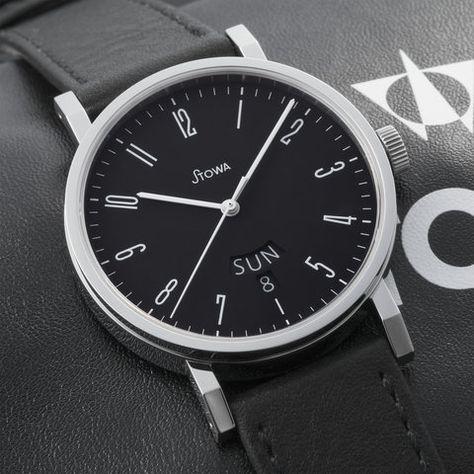 Antea Klassik 390 black day date | Stowa, Black, Old logo