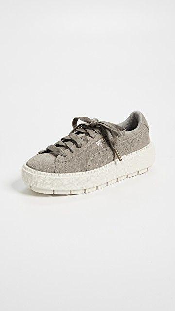 Suede Platform Trace Sneakers #Shoes #PUMA