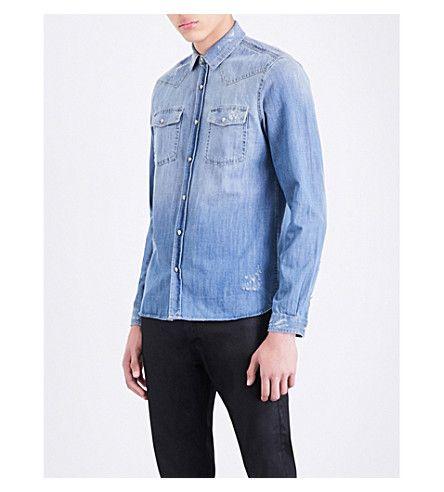 45117a2a3a2 THE KOOPLES Slim-Fit Denim Shirt. #thekooples #cloth #shirts | The ...