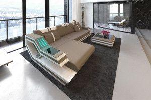 Stoffsofa Ravenna L Form Leather Sectional Sofas Sofa Design Living Room Sofa Design