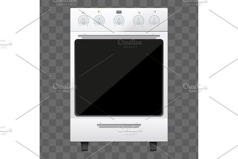 Classic Kitchen Stove Vector