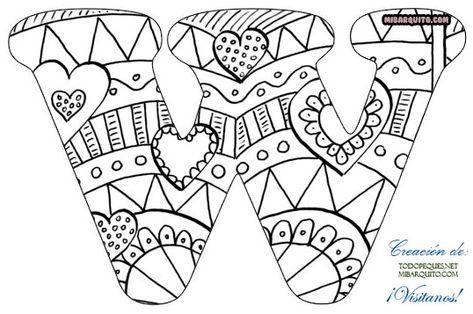 Letras Abecedario Mandalas Para Colorear En 2020 Mandalas Para