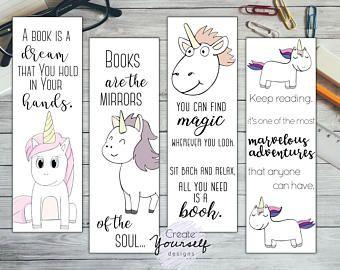Printable Unicorn Bookmark Set Coloring Bookmark Coloring Etsy Bookmarks Printable Coloring Bookmarks Unicorn Printables