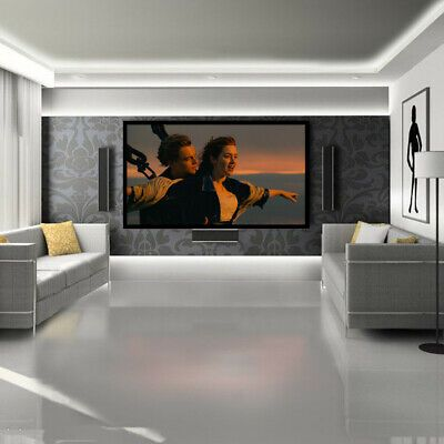 Ad Ebay Link 120 Inch Foldable Projector Screen 16 9 Hd Theater Home Indoor Outdoor 3d Movie With Images Projector Screen Media Room Design Home