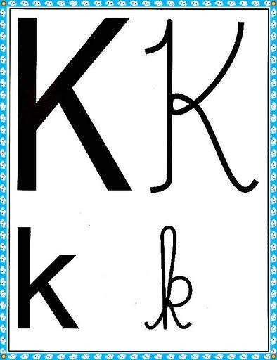 Cartazes Do Alfabeto Quatro Tipos De Letras Com Margem Azul Com