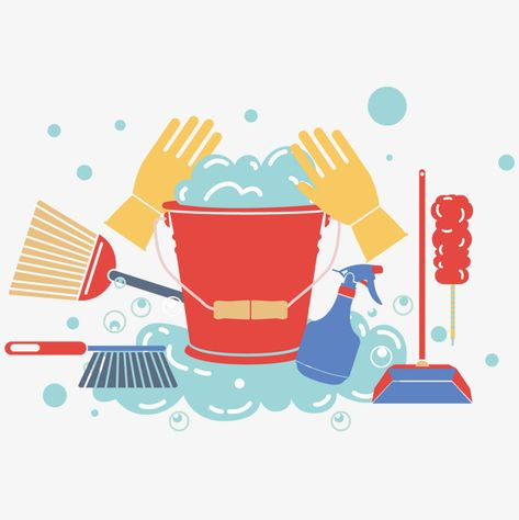 Vector cleaning cleaning tools PNG and Vector