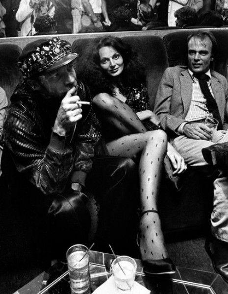 Ron Galella Disco NYC: Diane Von Furstenberg and Ara Gallant at a party for Egon Von Furstenberg