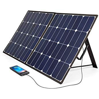 Bougerv 100 Watt 18v 12v Solar Panel Sunpower Cell Solar Charger Foldable Portable Dual Output 5v 2a Usb 1 12v Solar Panel Solar Panel Cost Roof Solar Panel