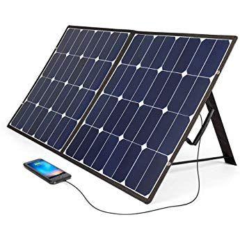 Bougerv 100 Watt 18v 12v Solar Panel Sunpower Cell Solar Charger Foldable Portable Dual Output 5v 2a Usb 1 12v Solar Panel Solar Panel Cost Roof Solar Panel