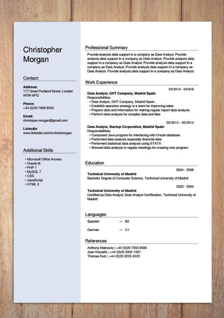 Create Free Resume Online from i.pinimg.com
