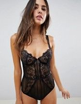 ASOS DESIGN | ASOS FULLER BUST Florence Strappy Lace padded Underwire Bra