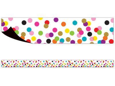 Confetti Magnetic Border Classroom Decorations Classroom Decor Classroom Themes