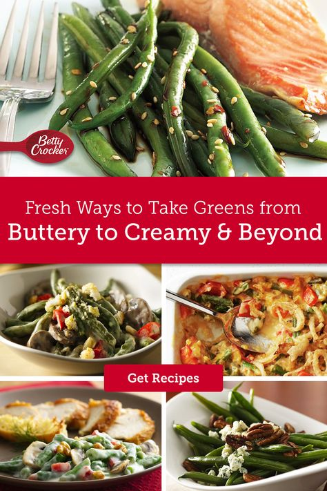Fresh, frozen or canned, we've gathered our best green bean recipes to help you freshen up your menu with spring flavor. Pin this one for all the green bean inspo you need.