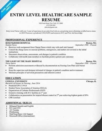 Rn Objective Statement Inspirational Entry Level Nursing Resume