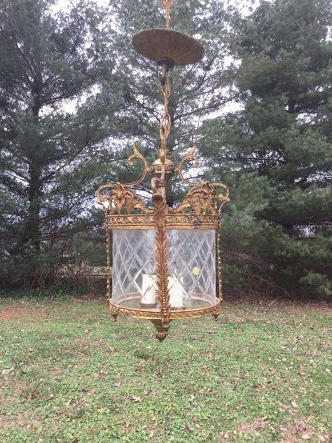 Spain Ornate Hanging Lamp Vintage