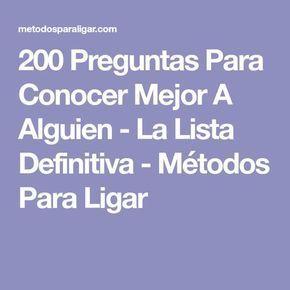 200 Preguntas Para Conocer Mejor A Alguien La Lista Definitiva Métodos Para Ligar Love Message For Him Interesting Questions Love Phrases