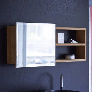 Typo Teak Mirror Cabinet Mit Bildern Badezimmerspiegel Rahmen