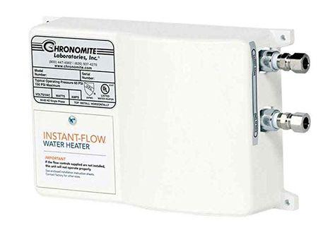 Chronomite Sr 30 240 Htr 240 Volt 30 Amp Sr Series Instant Flow Standard Flow Tankless Water Heater Tankless Water Heater Water Heater Inline Water Heater