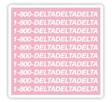 sorority recruitment sorority stickers bid day sorority gifts decal go greek delta delta delta gifts for rush tri delta stickers
