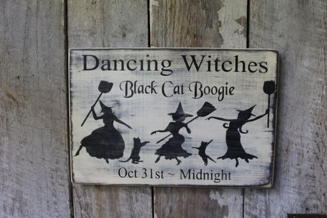 Shabby Halloween Kitchen Witch  plaque//sign chic and unique