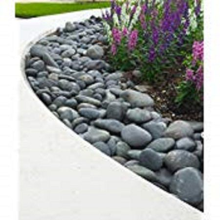 Patio Garden With Images Mexican Beach Pebbles Landscaping