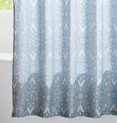 Woodward Shower Curtain With Organic Linen Drapery Rods Curtains Victorian Lighting