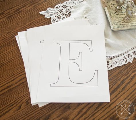 Free Printable Letters To Make A Farmhouse Sign Printable Letters Free Letter Stencils Sign Fonts