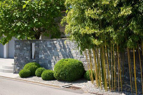 Asiatisches Flair im Garten - Parcu0027s Gartengestaltung Mauern - verputzte beton mauer bilder gartengestaltung