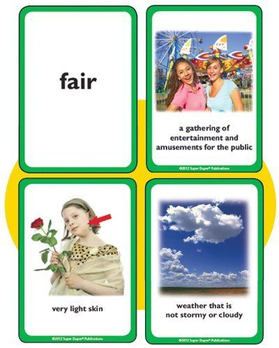 Triple Talk Multiple Meaning Photo Card Flash Card Game Super Duper Vocabulary