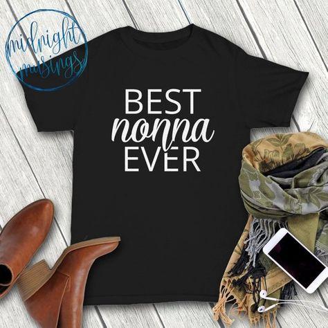 da4e6e64 Nonna Shirt Gift, Best Nonna Ever, Italian Nonna T Shirt Tee, Grandparent  Grandmother