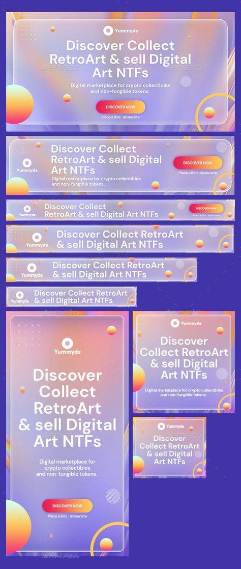 NFT Marketplace Web Banners Template PSD
