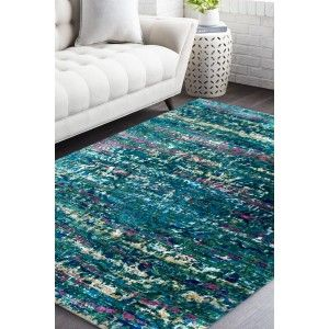 Deep Blue Sea Handmade Sari Silk Rug Green Color Is A Best Color For A Living Room Place This Carpet With Natural Accents And Silk Area Rugs Blue Carpet Rugs