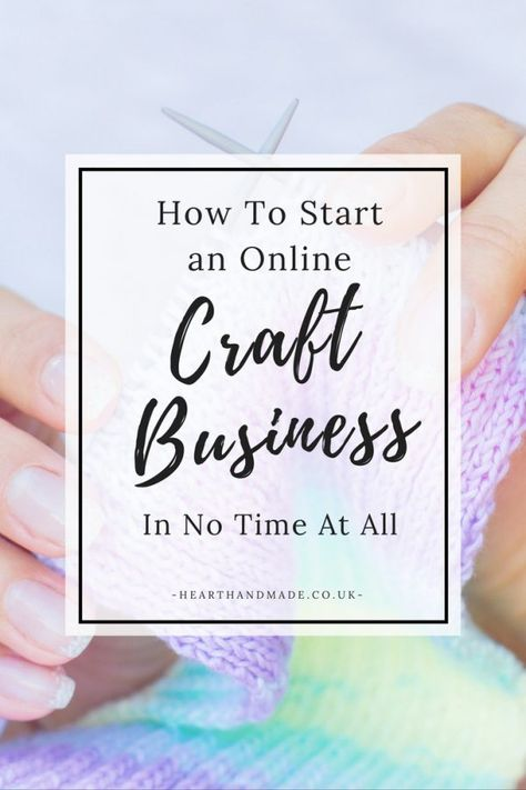 How to start an online craft business in under 15 mins!