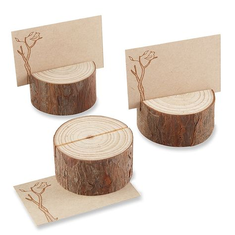 Kate Aspen® Rustic Real-Wood Place Card/Photo Holder (Set of Rustic Wedding decor. Rustic Wedding Favors, Chic Wedding, Wedding Table, Rustic Weddings, Fall Wedding, Country Wedding Centerpieces, Romantic Weddings, Wedding Gifts, Outdoor Rustic Wedding Ideas