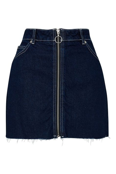 MOTO Zip Through A-Line Skirt - Skirts - Clothing - Topshop