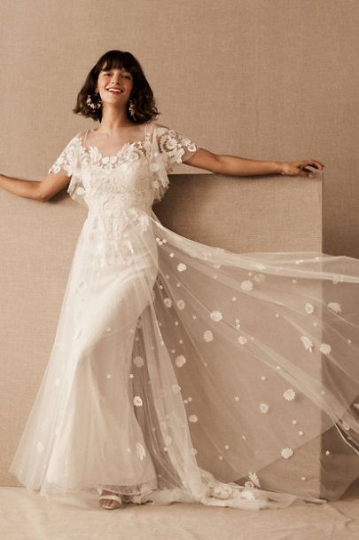 Willowby By Watters Heartleaf Gown In 2020 Bhldn Wedding Dress