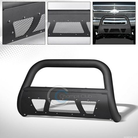 For Chevy Suburban//Tahoe//Escalade 3 inches Chrome Bumper Push Bull Bar Skid Plate Relocation Kit