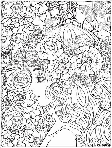 Young Adult Coloring Pages In 2020 Coloring Pages Cute Coloring