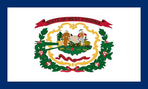 West Virginia State Flag Coloring Pages