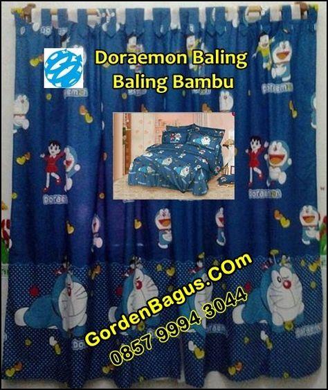 Gorden murah dan cantik motif doraemon dan Spreinya kali ini motif gorden doraemon. Yuk yang suka doraemon, bisa memesannya melalui SMS center kami di 0857 9994 3044. Dari gordenbagus.com
