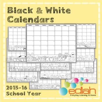 Monthly Calendar Color Your Own Kindergarten - how to create your own calendar