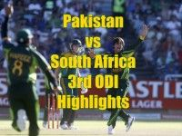 Pakistan vs South Africa 3rd ODI Highlights 30 November 2013