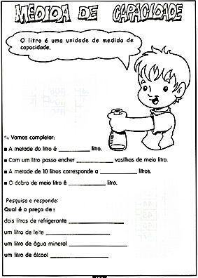 Atividades Escolares Sistema De Medidas Atividades Atividades