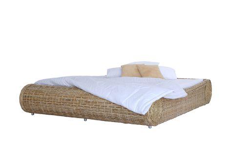 Rattan Bettgestell Ryde Holzfarben Masse Cm B 195 H 45 T 240 Betten Futonbetten Hoffner In 2020 Bettgestell Bett Bett Matratze