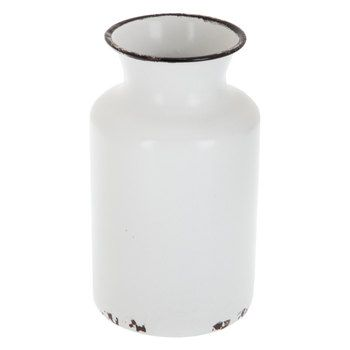 Distressed White Enamel Vase Hobby Lobby 1587955 In 2020 Metal Vase Vase White Enamel