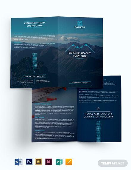 Travel Agency Bi Fold Brochure Template Download 262 Brochures In Adobe Illustrator Adobe Photoshop Travel Brochure Template Free Brochure Template Brochure
