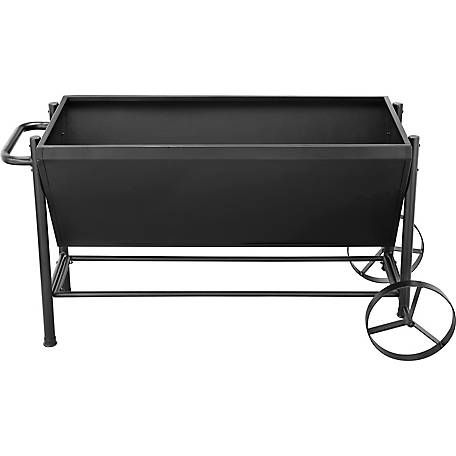Groundwork 49 In X 23 In Metal Rolling Planter At Tractor Supply Co Patio Furniture Layout Planters Patio Furnishings
