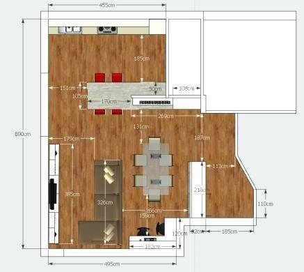 """Questa soluzione permette di """"ottimizzare"""" Arredare 50 Mq Progetto Living Ingresso E Cucina Open Space Arredare Una Casa Di 50 Mq Cucina Soggiorno Arredamento Salotto Cucina Case"""