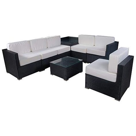 Mcombo Outdoor Wicker Sofa Sectional Furniture Luxury Large Size Patio Rattan Chair With 6 Sectional Patio Furniture Wicker Sofa Outdoor Wicker Sofa